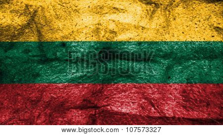 Flag of Lithuania, Lithuanian Flag painted on wool texture
