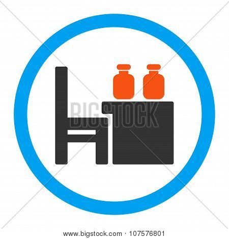 Apothecary Table Rounded Vector Icon