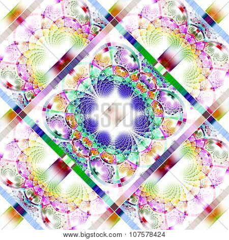Fabulous Diagonal Fractal Pattern With Shiny Strips. Collection -  Rhinestones. Artwork For Creative