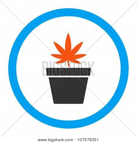 Cannabis Pot Rounded Vector Icon