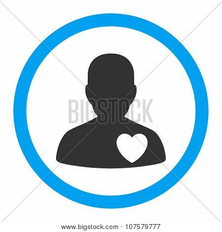 Cardiology Patient Rounded Vector Icon