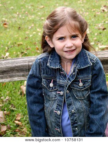 Beautiful Little Preschool Girl