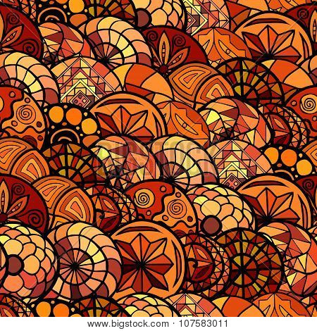 Hand Drawn Vector Ethnic Seamless Pattern