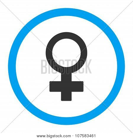 Female Symbol Rounded Vector Icon