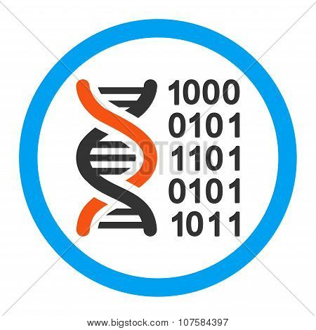 Genetic Code Rounded Vector Icon