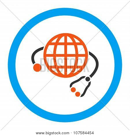 Global Medicine Rounded Vector Icon