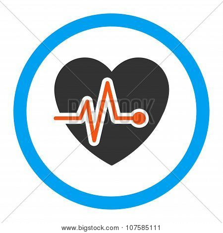 Heart Pulse Rounded Vector Icon