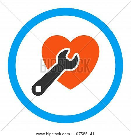 Heart Repair Rounded Vector Icon