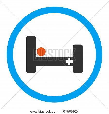 Hospital Bed Rounded Vector Icon