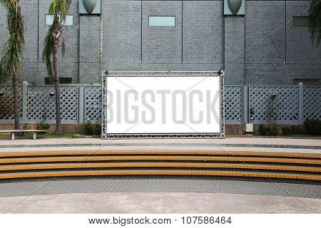 blank billboard background on the city street