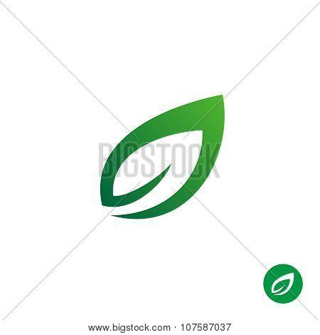 Green Leaf Symbol