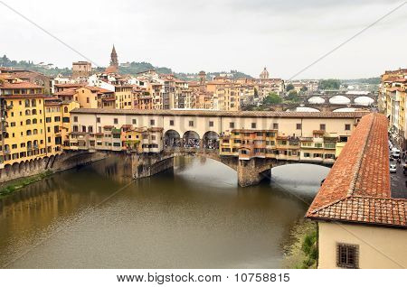 Firenze Italy - Ponte vecchio up view