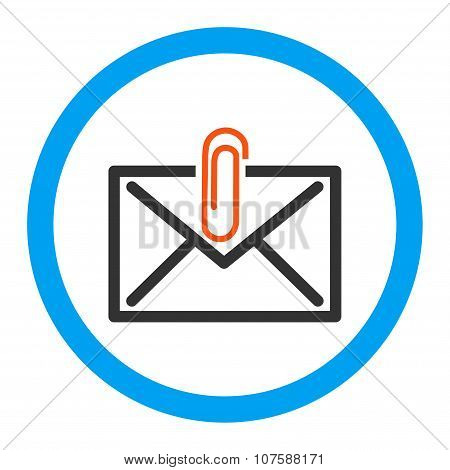 Mail Attachment Rounded Vector Icon