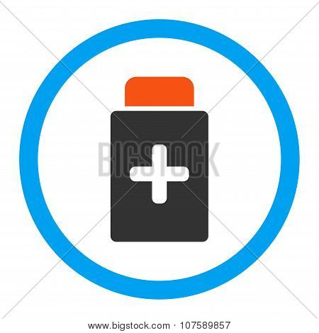 Medication Bottle Rounded Vector Icon