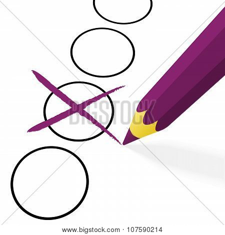 Purple Pencil With Cross