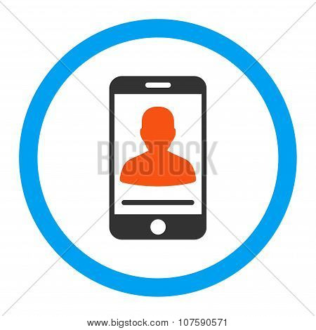 Mobile Contact Rounded Vector Icon