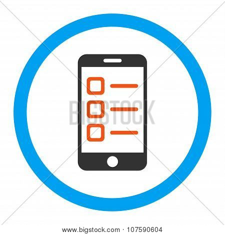 Mobile List Rounded Vector Icon