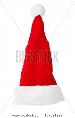 Santa Claus red christmas hat isolated on white background