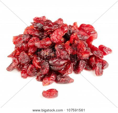Dried Cranberry Isolated On White Background
