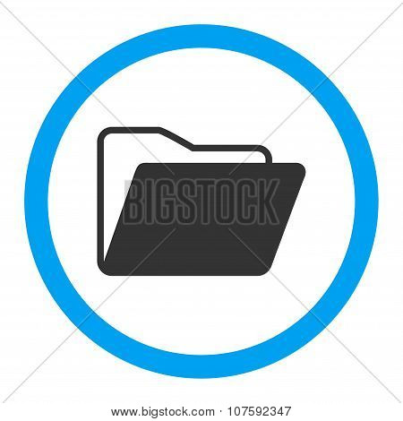Open Folder Rounded Vector Icon