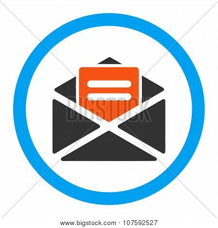 Open Mail Rounded Vector Icon
