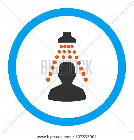 Patient Disinfection Rounded Vector Icon