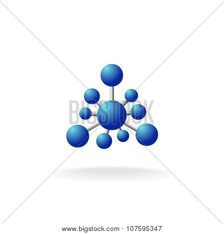 Abstract Molecular Structure Symbol