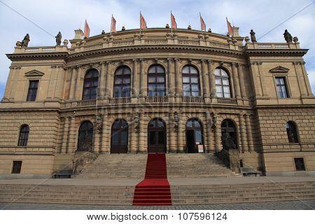 The Rudolfinum - A Music Auditorium And Art Gallery In Prague, Czech Republic.