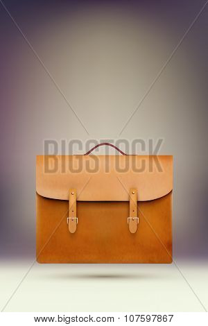 vector leather bag