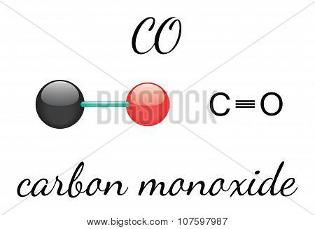 CO carbon monoxide molecule