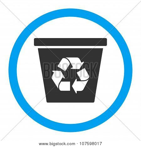 Recycle Bin Rounded Vector Icon