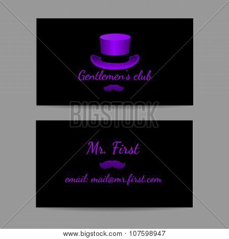 Business horizontal card is great men