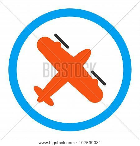 Screw Aeroplane Rounded Vector Icon