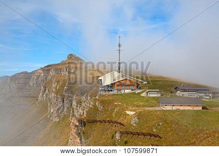 Autumn landscape in Manlichen (Jungfrau region, Switzerlnand)