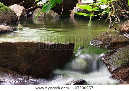 Falling Woodland Stream