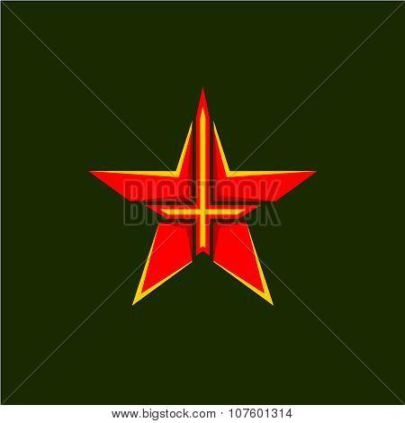 Military Star Symbol.