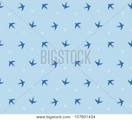 Swallow Seamless Pattern
