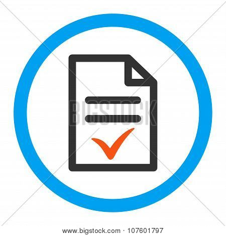 Valid Document Rounded Vector Icon
