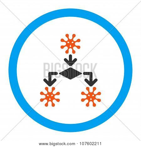 Virus Reproduction Rounded Vector Icon