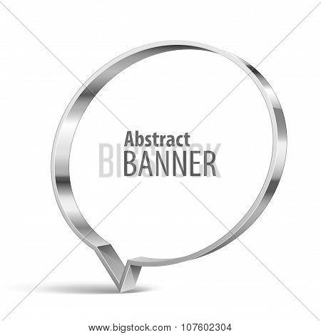 Shiny Metal Vector Vector Banner
