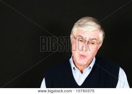 Surprised Older Man