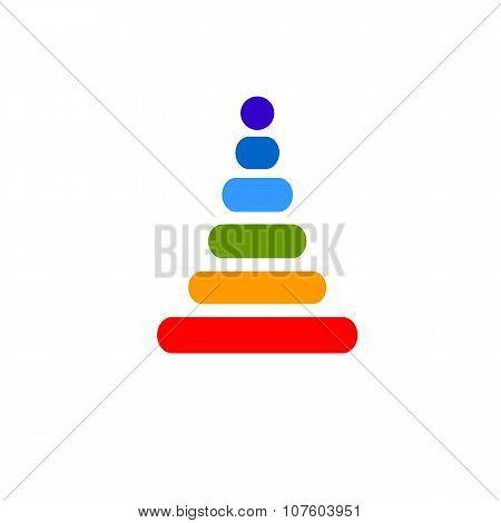 Baby Rainbow Pyramid Flat Vector Icon