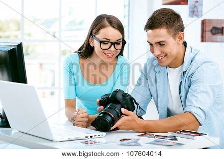 Concept for professional photographer in office