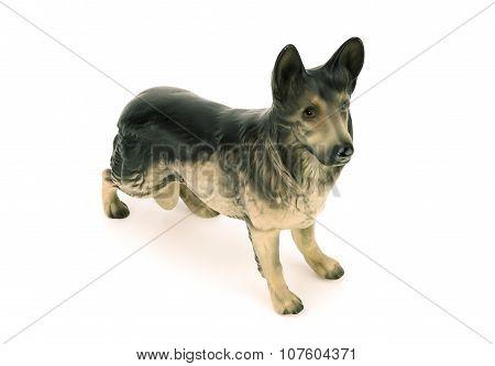 Statuette Of Dog,german Shepherd