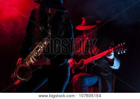 Saxophone and Guitar