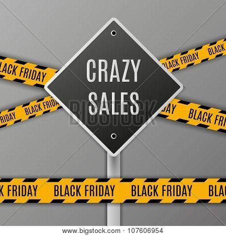 Illustration of Black Friday Sale Vector Sign