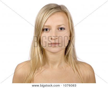 Face Of Young Blonde Woma