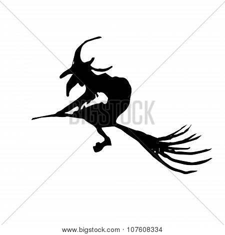 Witch On A Broomstick (halloween)