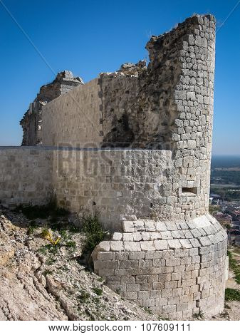 Ruins Of A Castle At Iscar, Spain