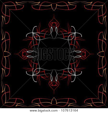 Pinstripe Graphics Corner, Border : Vinyl Ready Vector Art